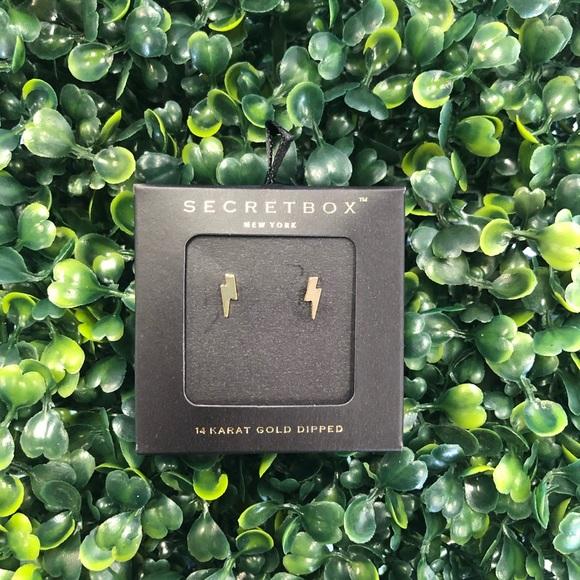 Gold Lightning Bolt Earrings